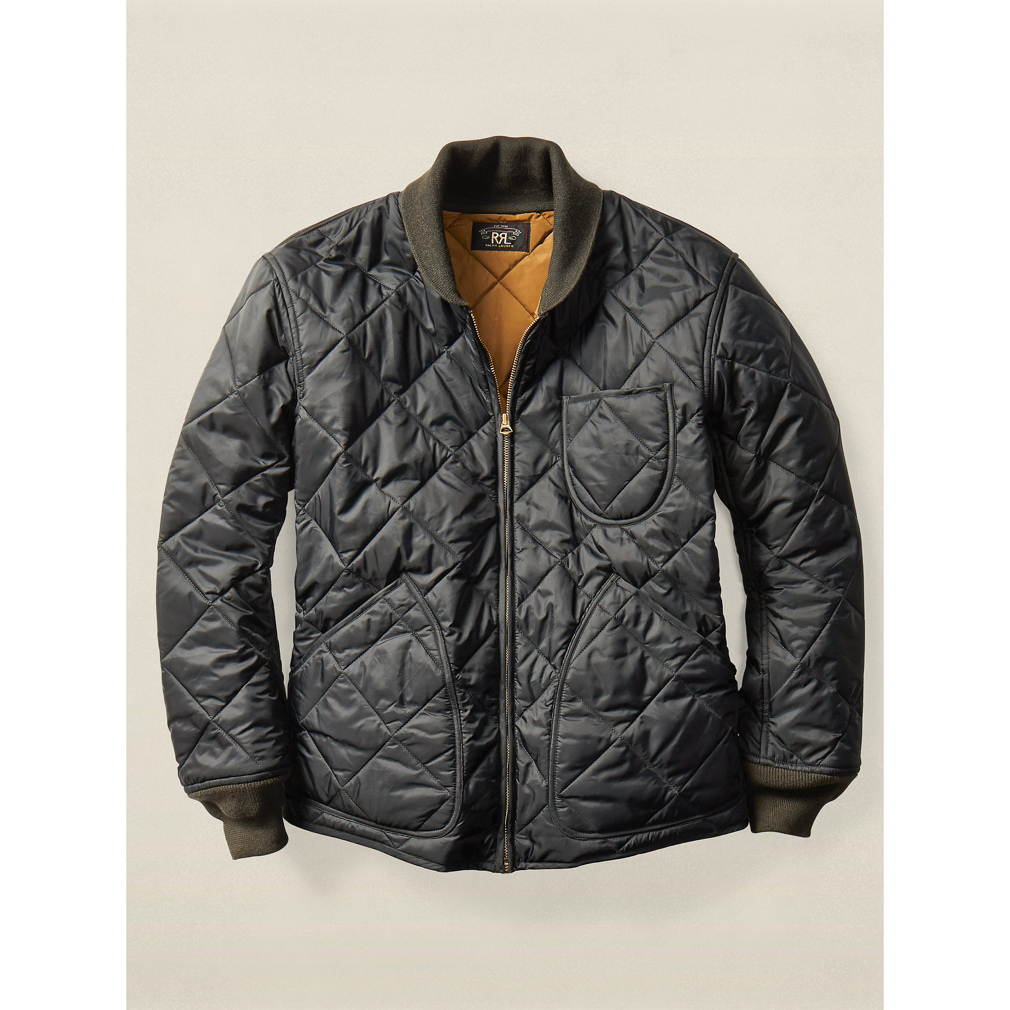 Lyst - Rrl Quilted Liner Jacket in Black for Men : quilted jacket liner - Adamdwight.com