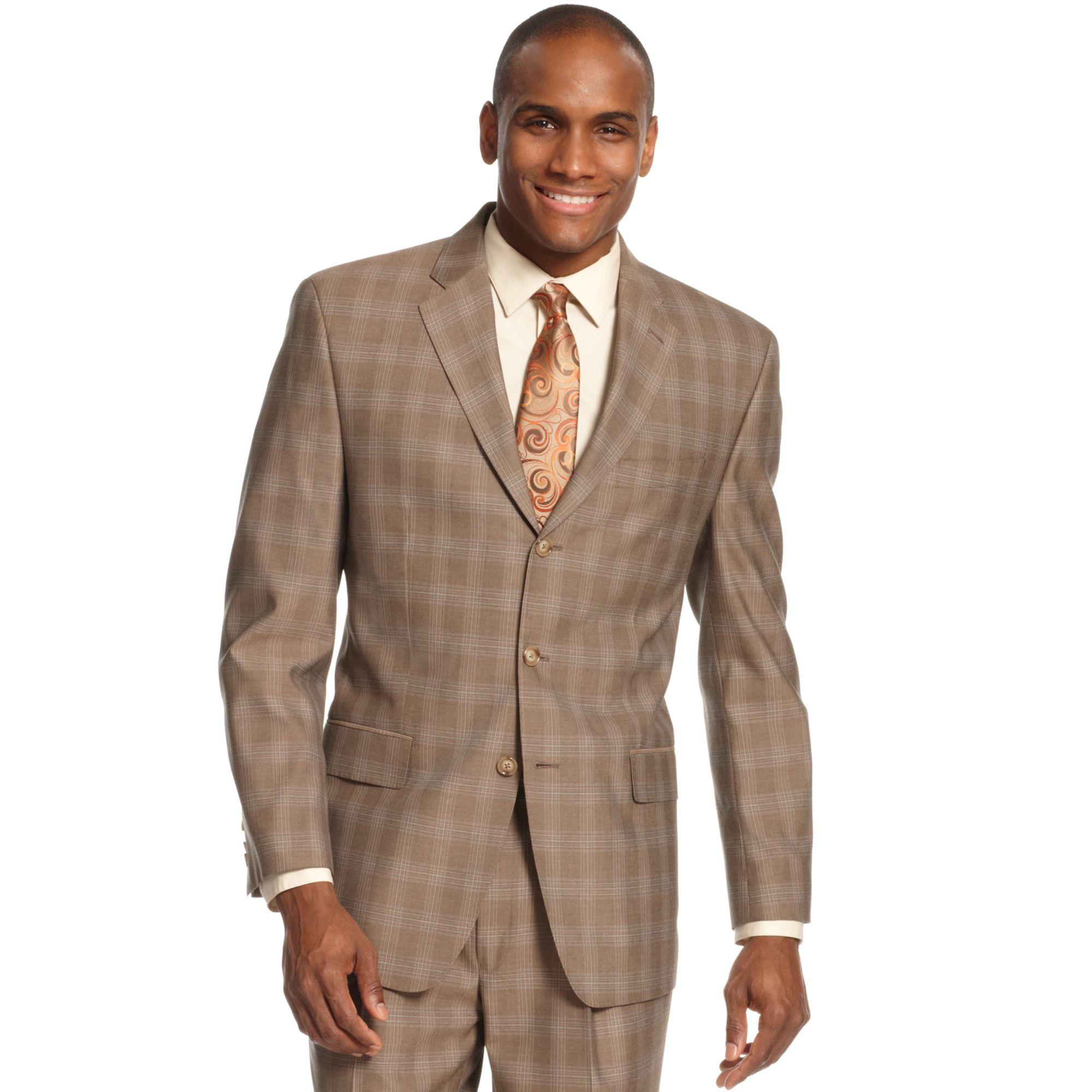 Lyst Sean John Light Brown Plaid Jacket In Brown For Men