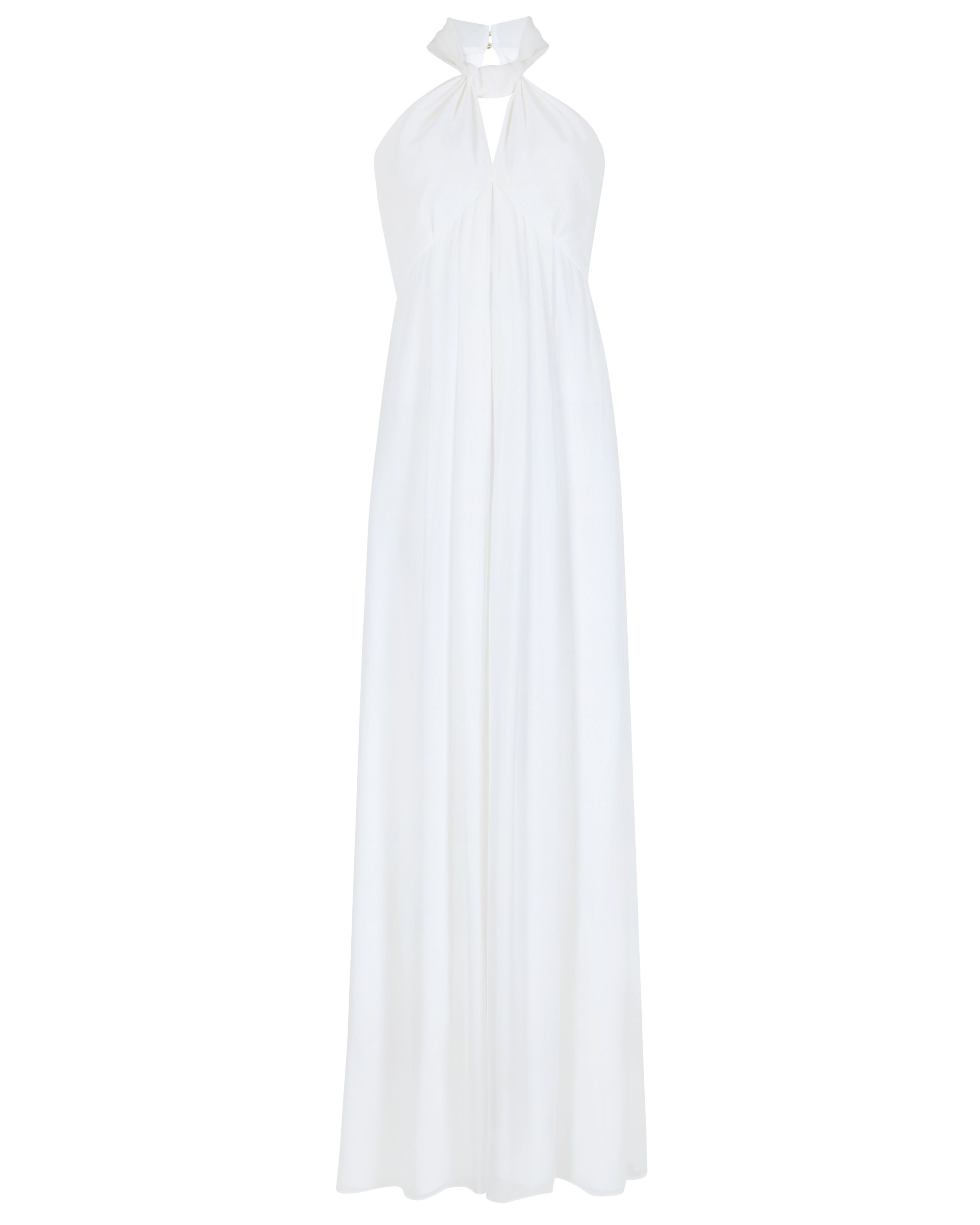 Ted baker quinie knot neck dress in white lyst gallery mightylinksfo