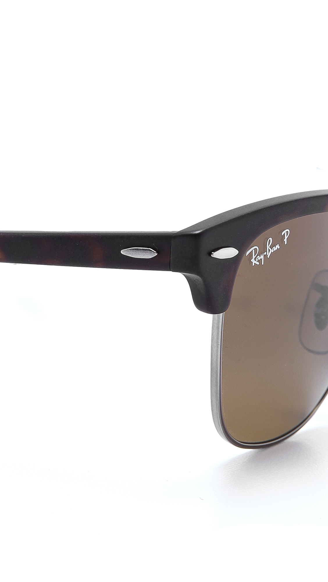 8c040cba744 ... sale lyst ray ban clubmaster folding polarized sunglasses in brown for  men 1becd d9175