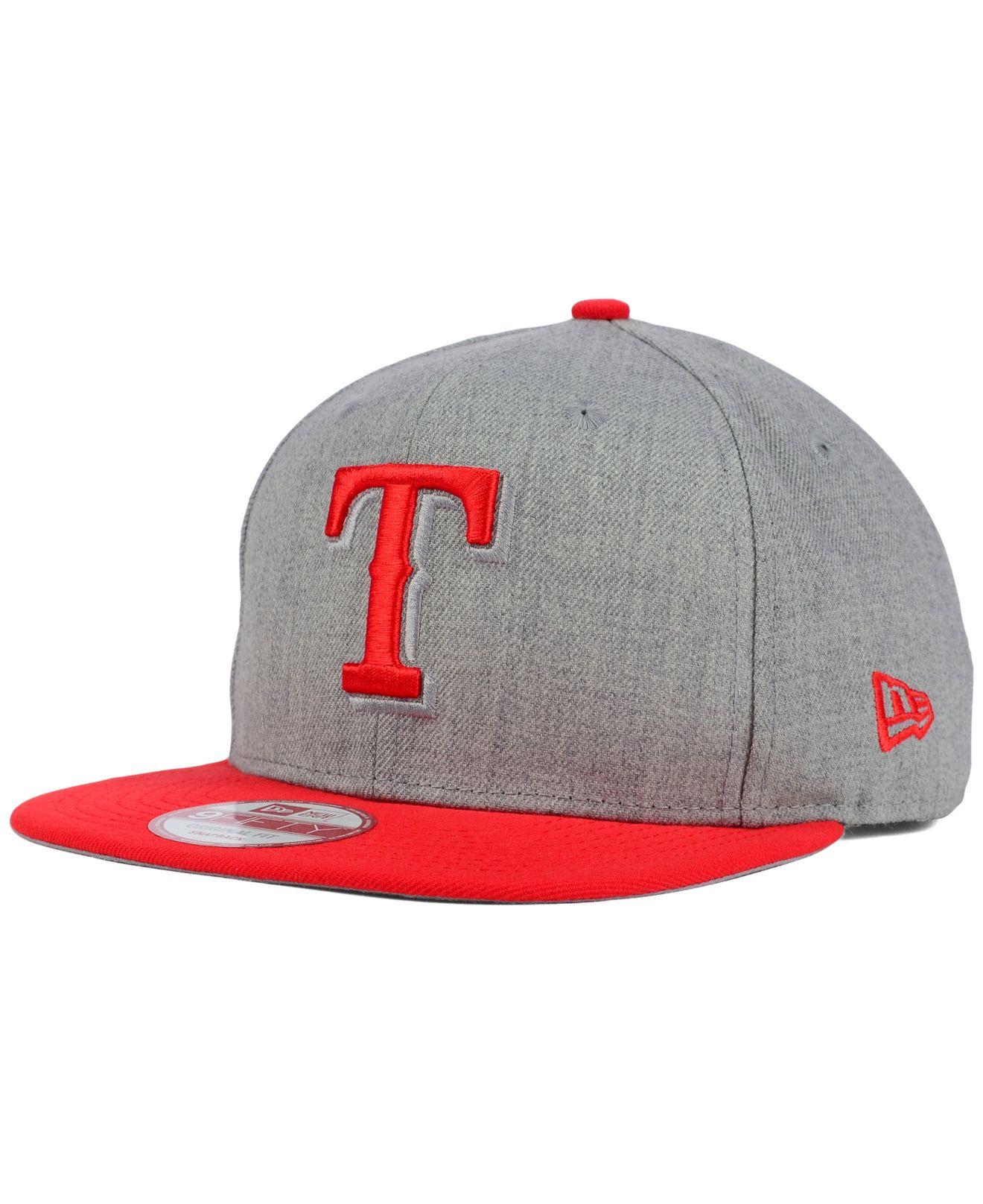 buy online 3210b 5735d Lyst - Ktz Texas Rangers Speed Up 9fifty Snapback Cap in Gray for Men