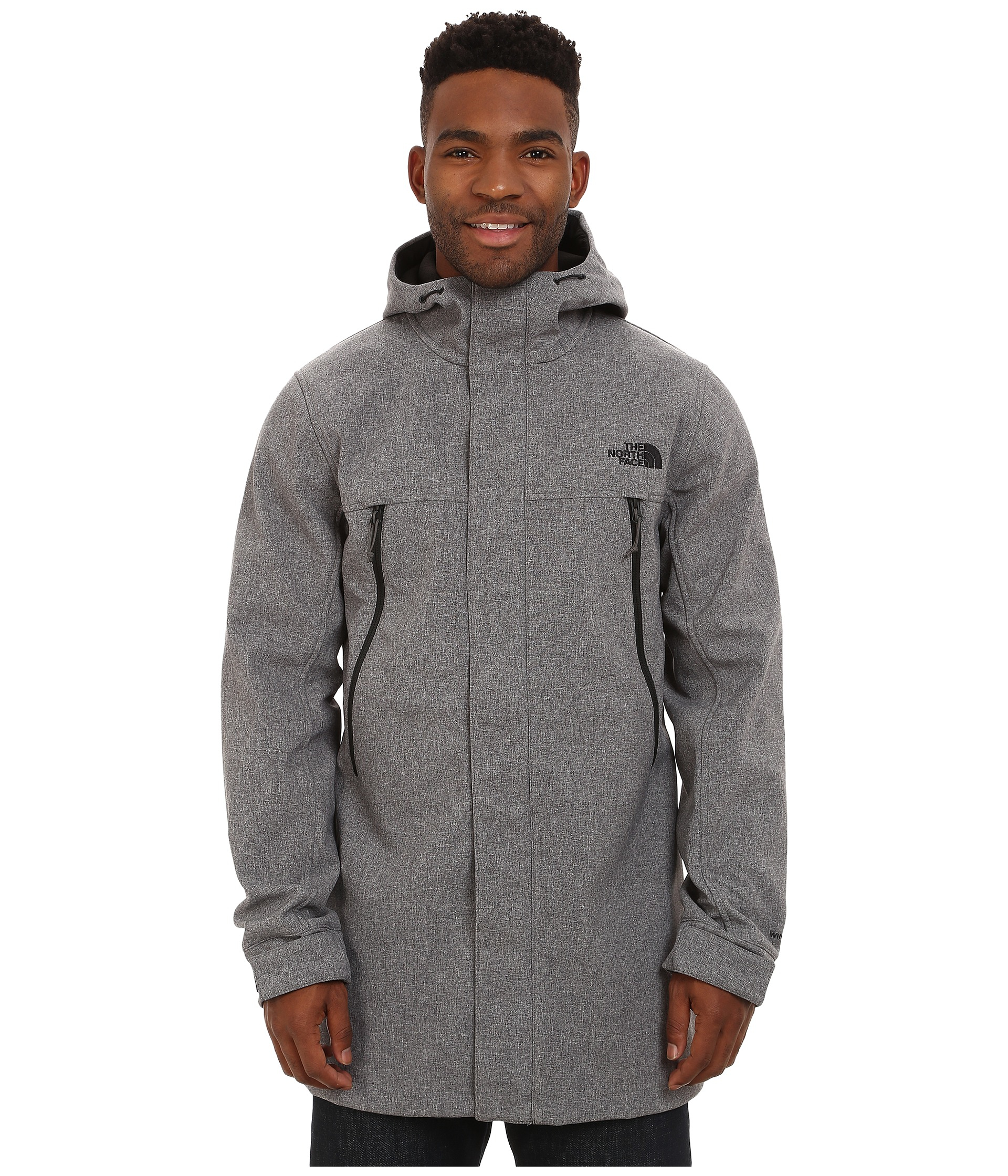 The north face Apex Bionic Trench Coat in Gray for Men | Lyst