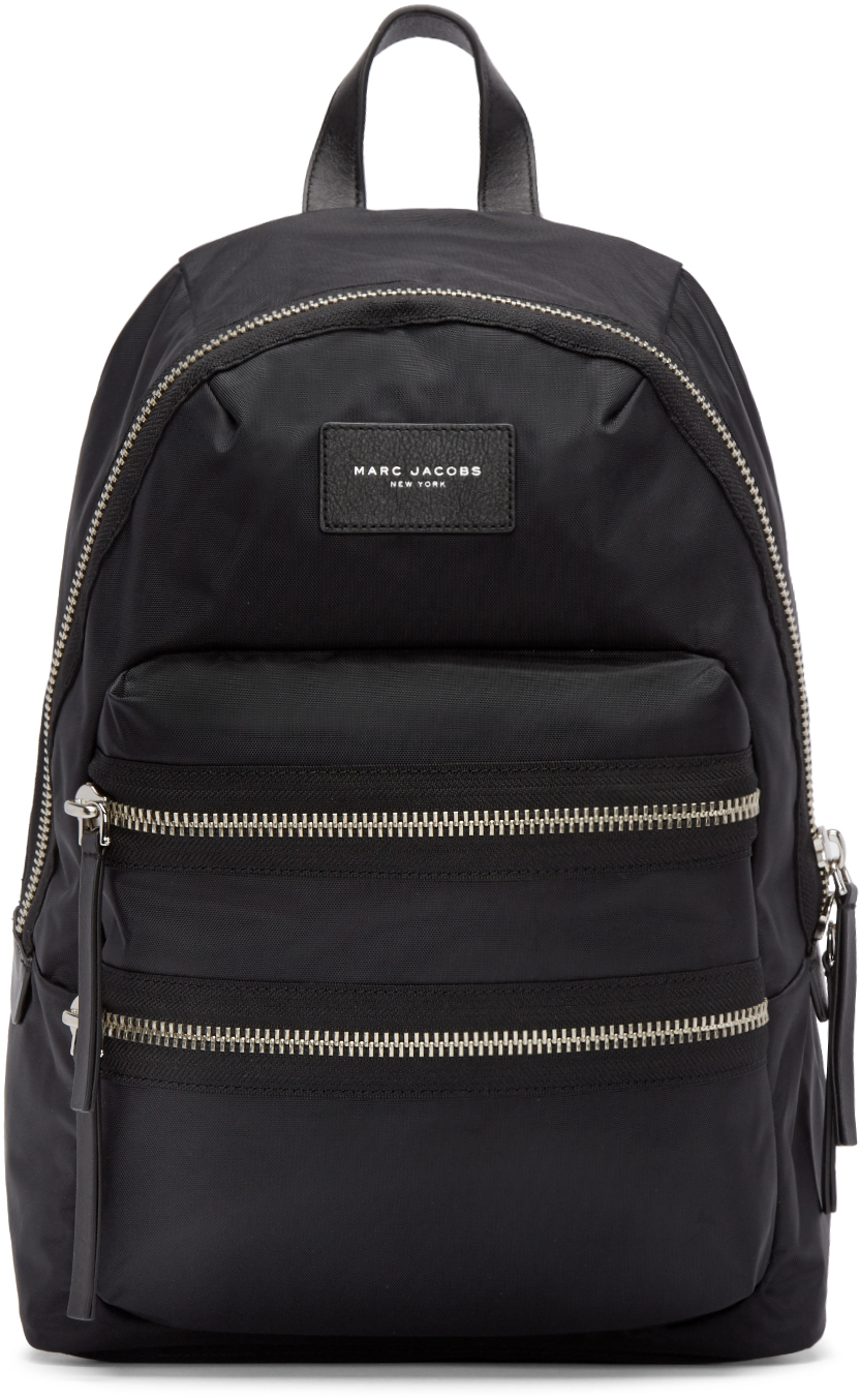 lyst marc jacobs black nylon biker backpack in black. Black Bedroom Furniture Sets. Home Design Ideas