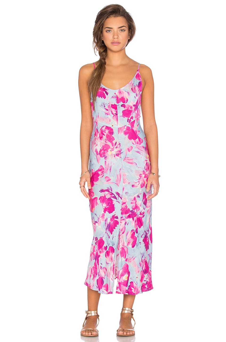 f61c8a6ccc Somedays Lovin Pintura Floral Maxi Dress in Pink - Lyst