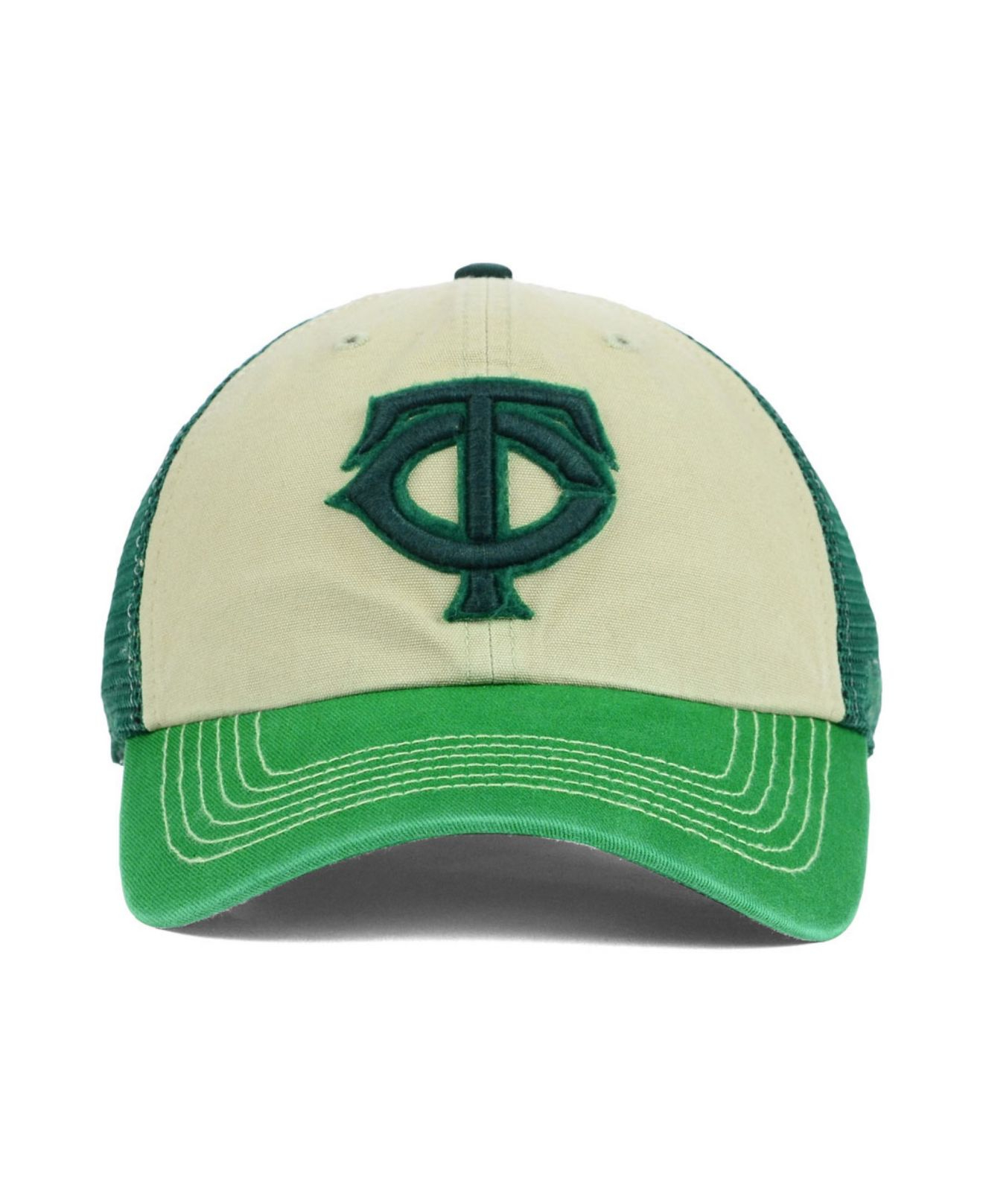 sale retailer 6cb36 dd36c ... wholesale lyst 47 brand minnesota twins mcnally clean up cap in green  for men e7973 0e4dc
