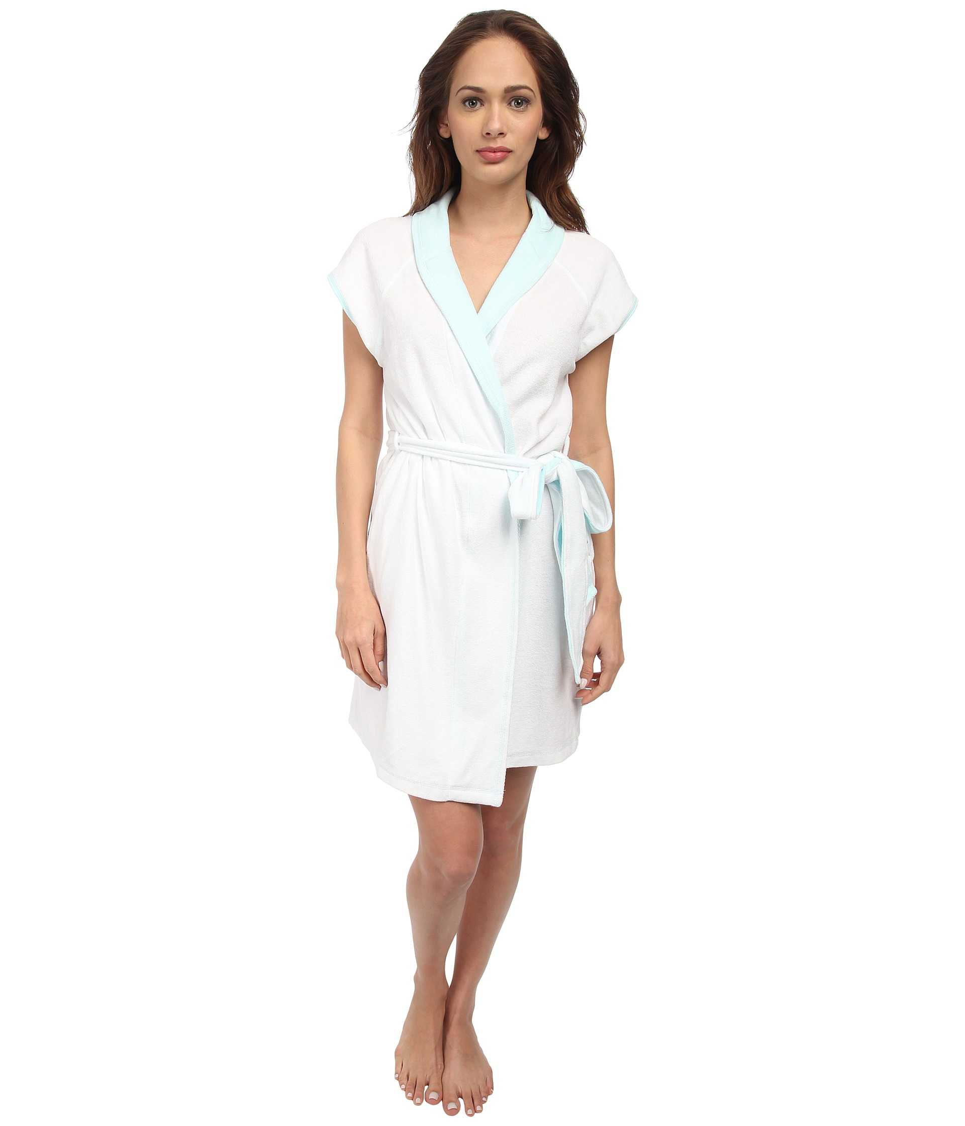 Lyst - Betsey Johnson Bridal Baby Terry Wifey Robe 734719 in White 94c46f444