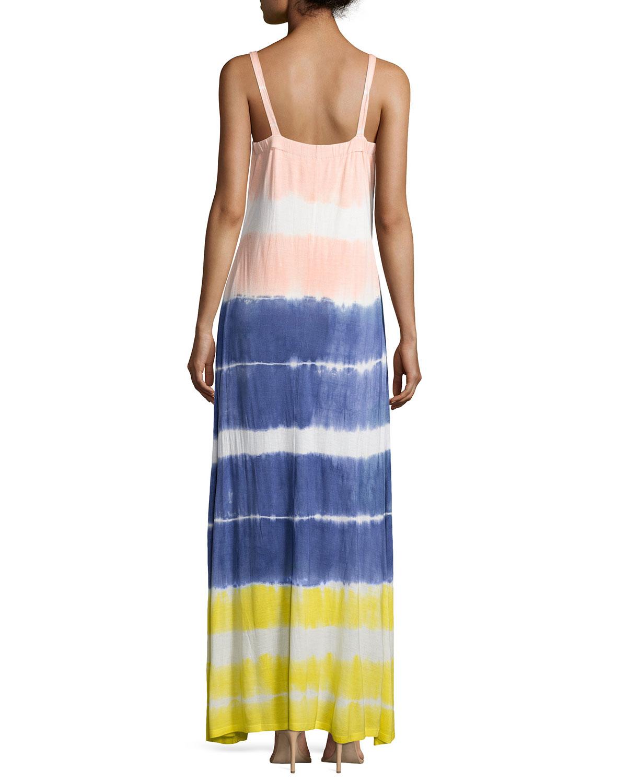 Lyst - Neiman Marcus Tie-dye V-neck Maxi Dress