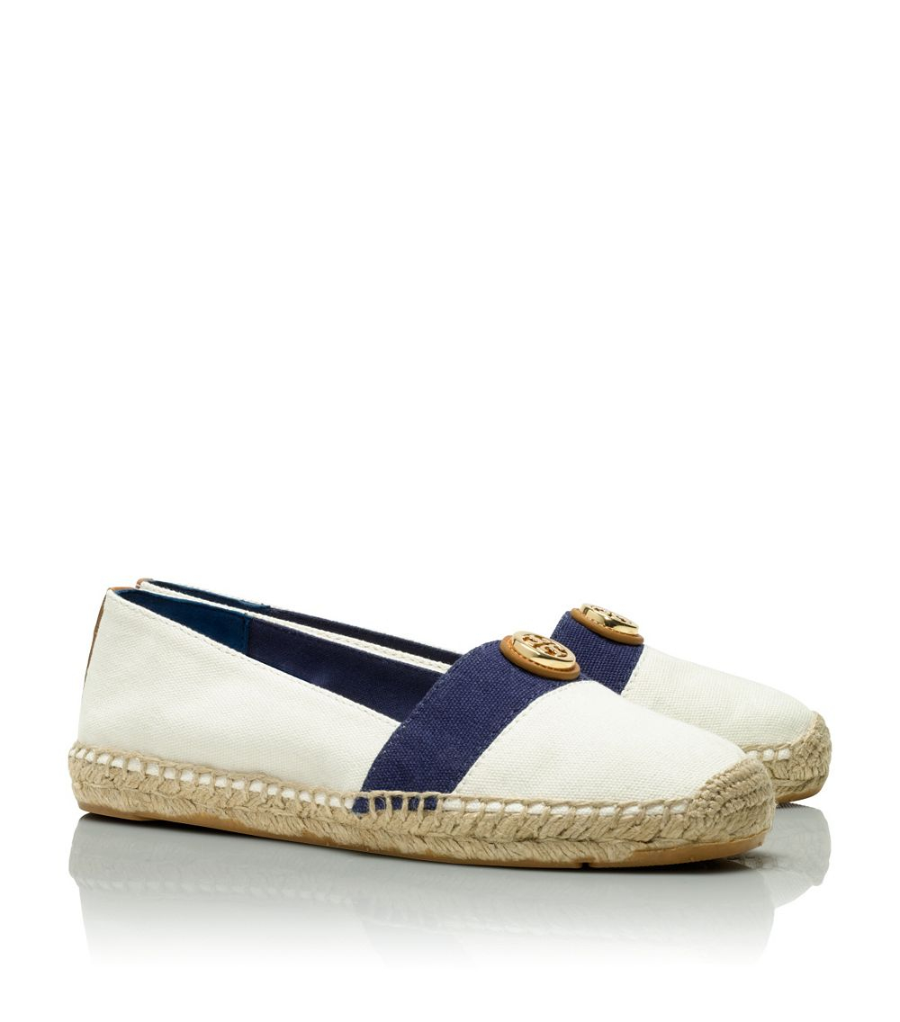 c42eec9acbf ... promo code for lyst tory burch beacher flat espadrille in white c0b09  20f59