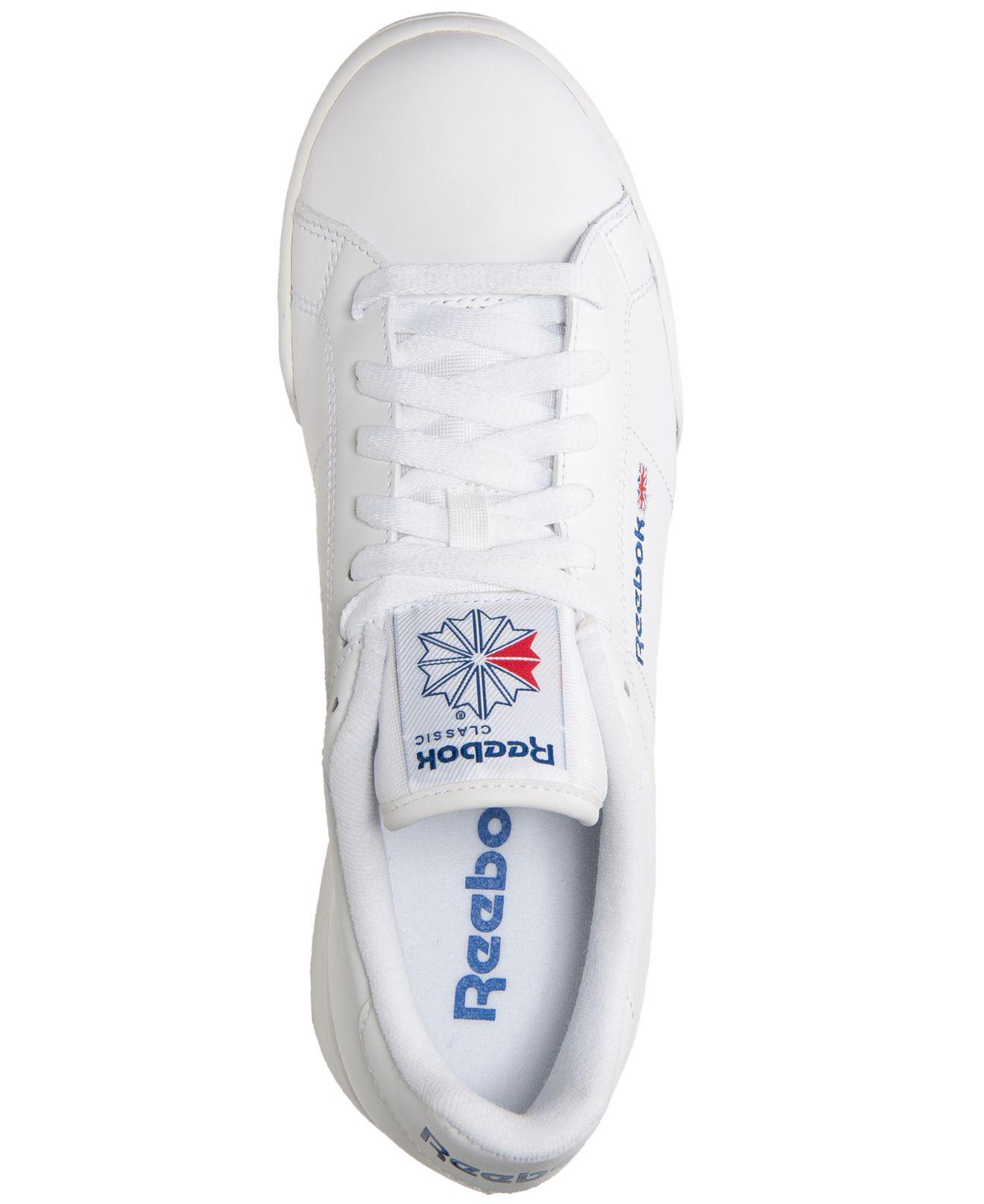 Lyst - Reebok Men s Npc Ii Casual Sneakers From Finish Line in White ... 042c7a6d6