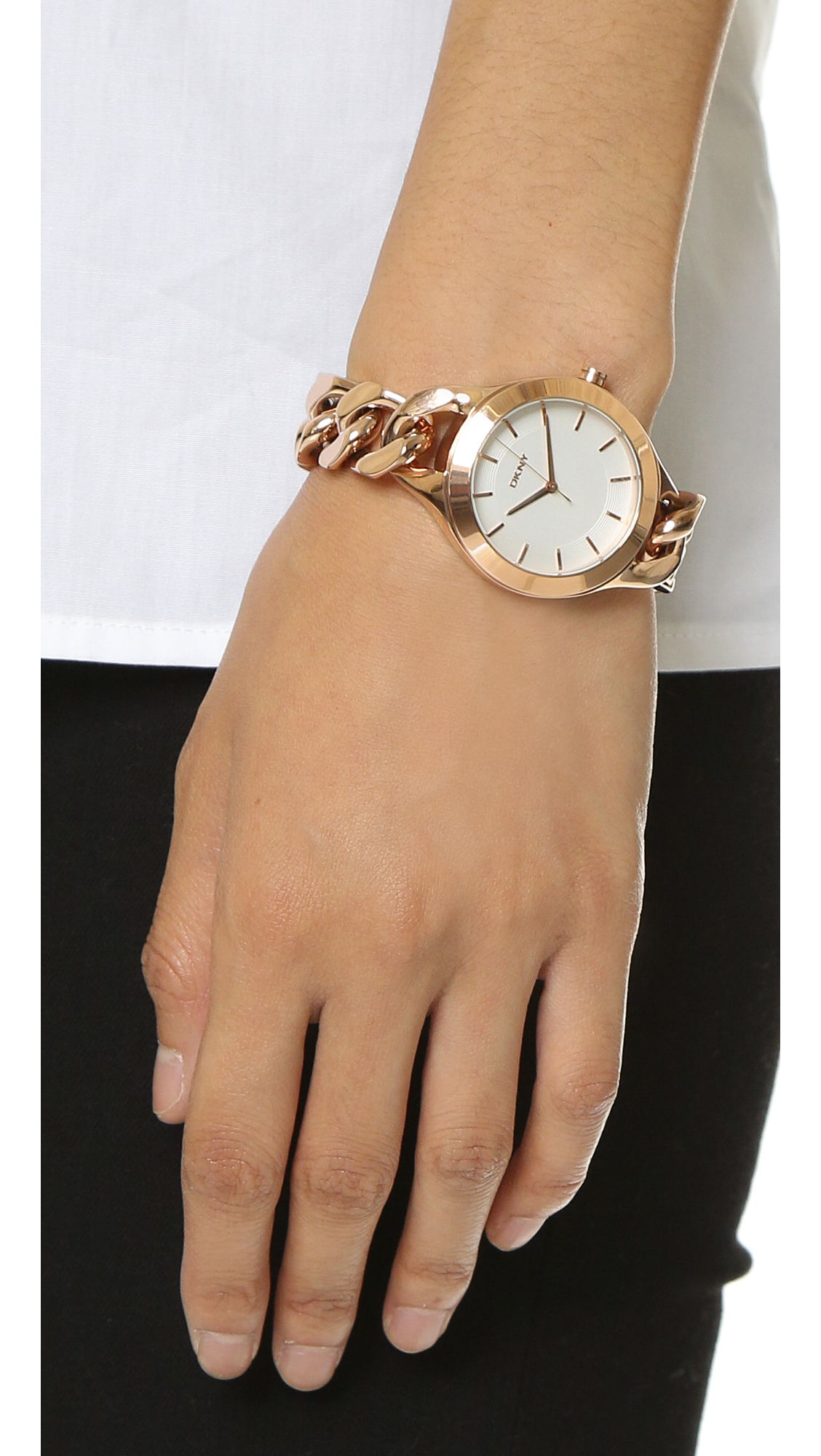 a83ee143592 Lyst - DKNY Chambers Watch in Pink