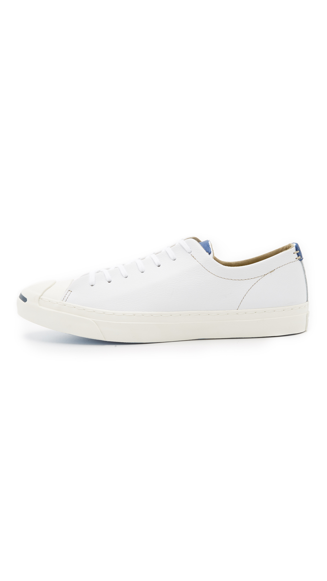 eb4a2538407417 Lyst - Converse Jack Purcell Jack Tumbled Leather Sneakers in Blue ...