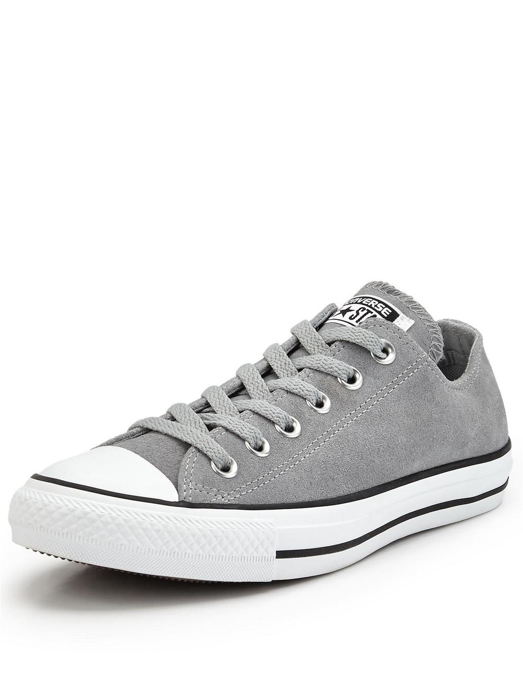 eddb0f5e0c5d Converse Chuck Taylor All Star Ox Suede Trainers in Gray .