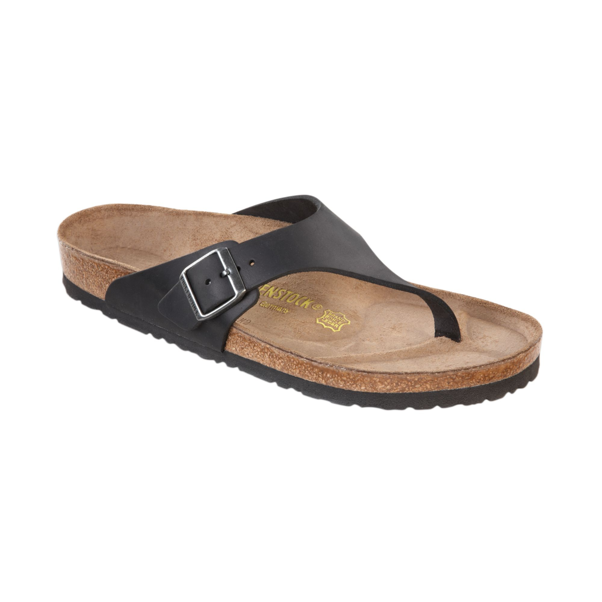 Birkenstock Mens Como Side Buckle Thong Sandals In Black