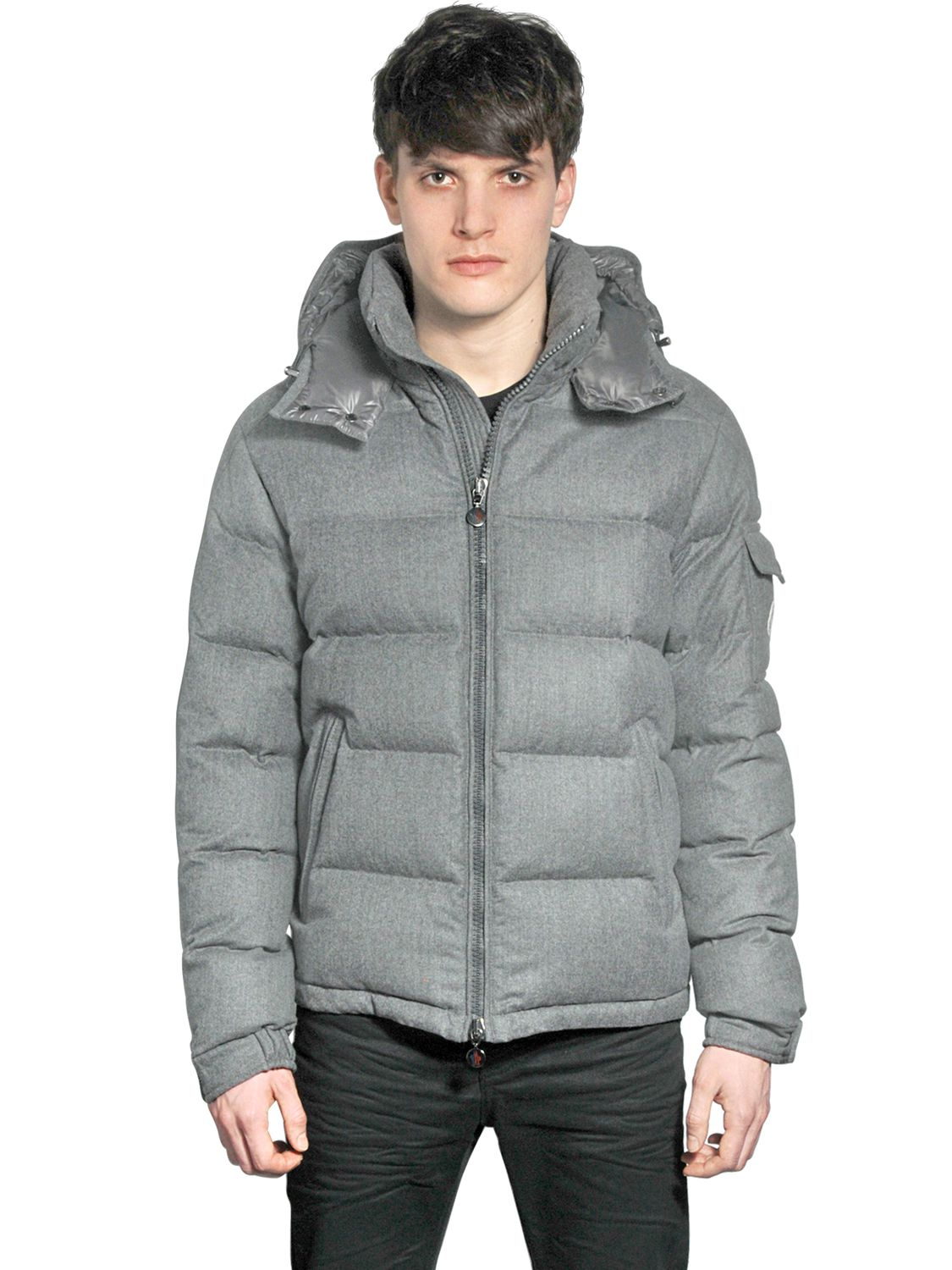 988fc0e68dd ... cheap moncler montgenevre light flannel down jacket in gray for men  lyst a7261 0c23b