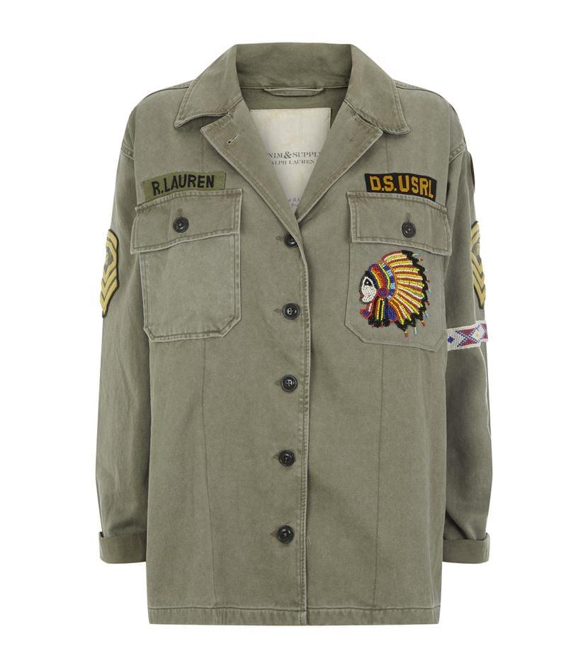 Denim U0026 Supply Ralph Lauren Military Patch Shirt Jacket In Green | Lyst