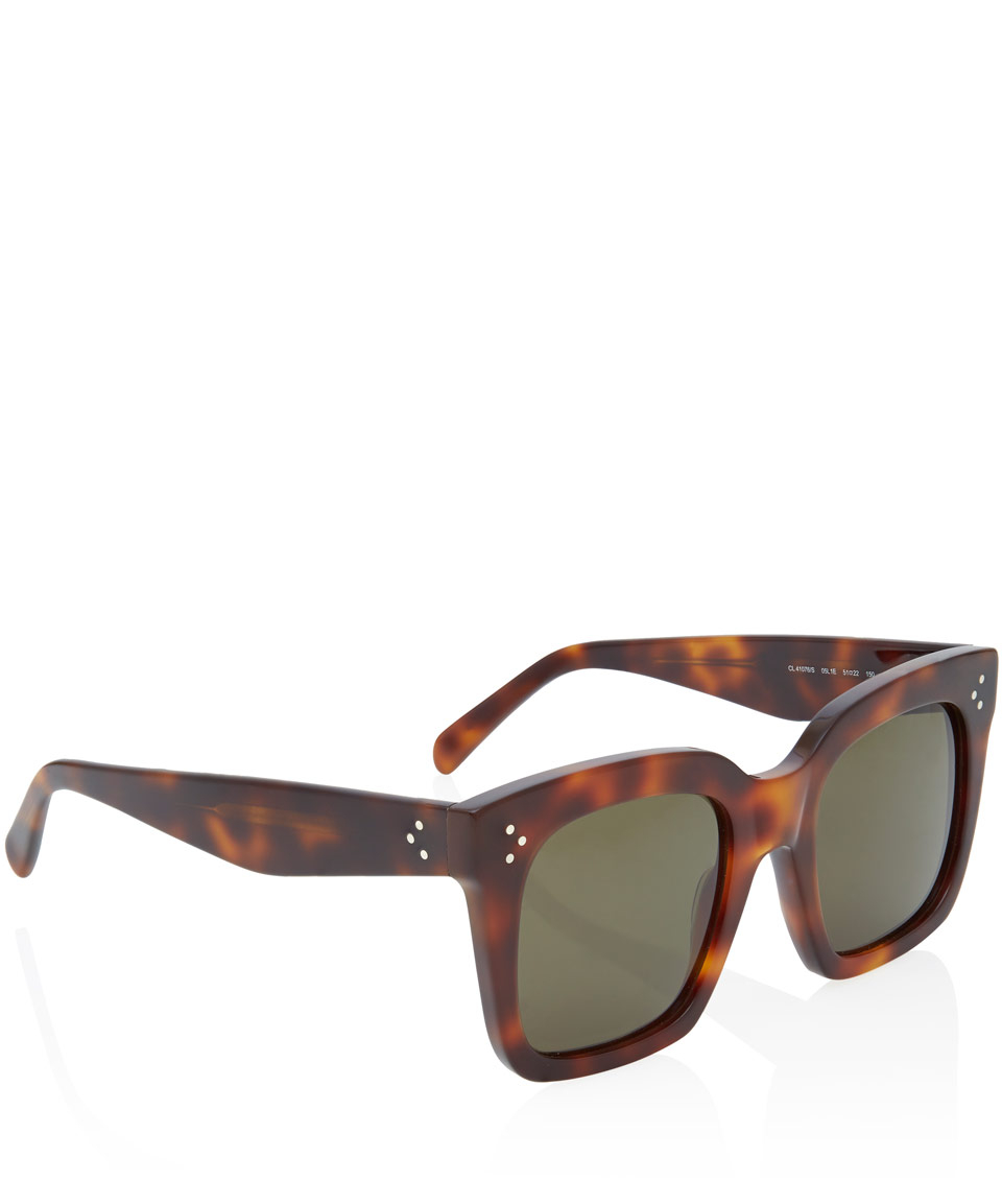 83b18783d2fc Céline Tortoiseshell Tilda Oversized Sunglasses in Brown - Lyst