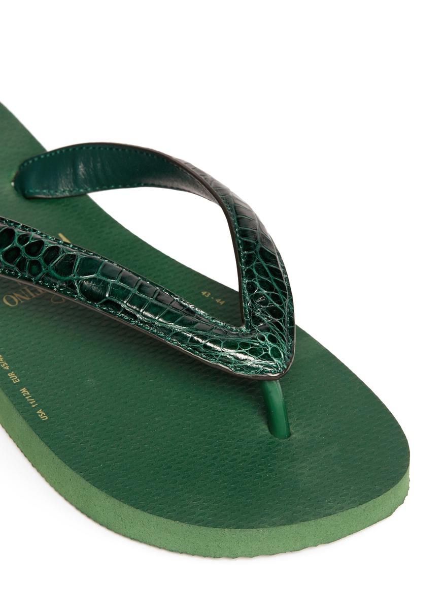 2cefdb5b4 Green For Havaianas X Valentino Skin Lyst Croc Flip Flops Men In x81wBzRBq