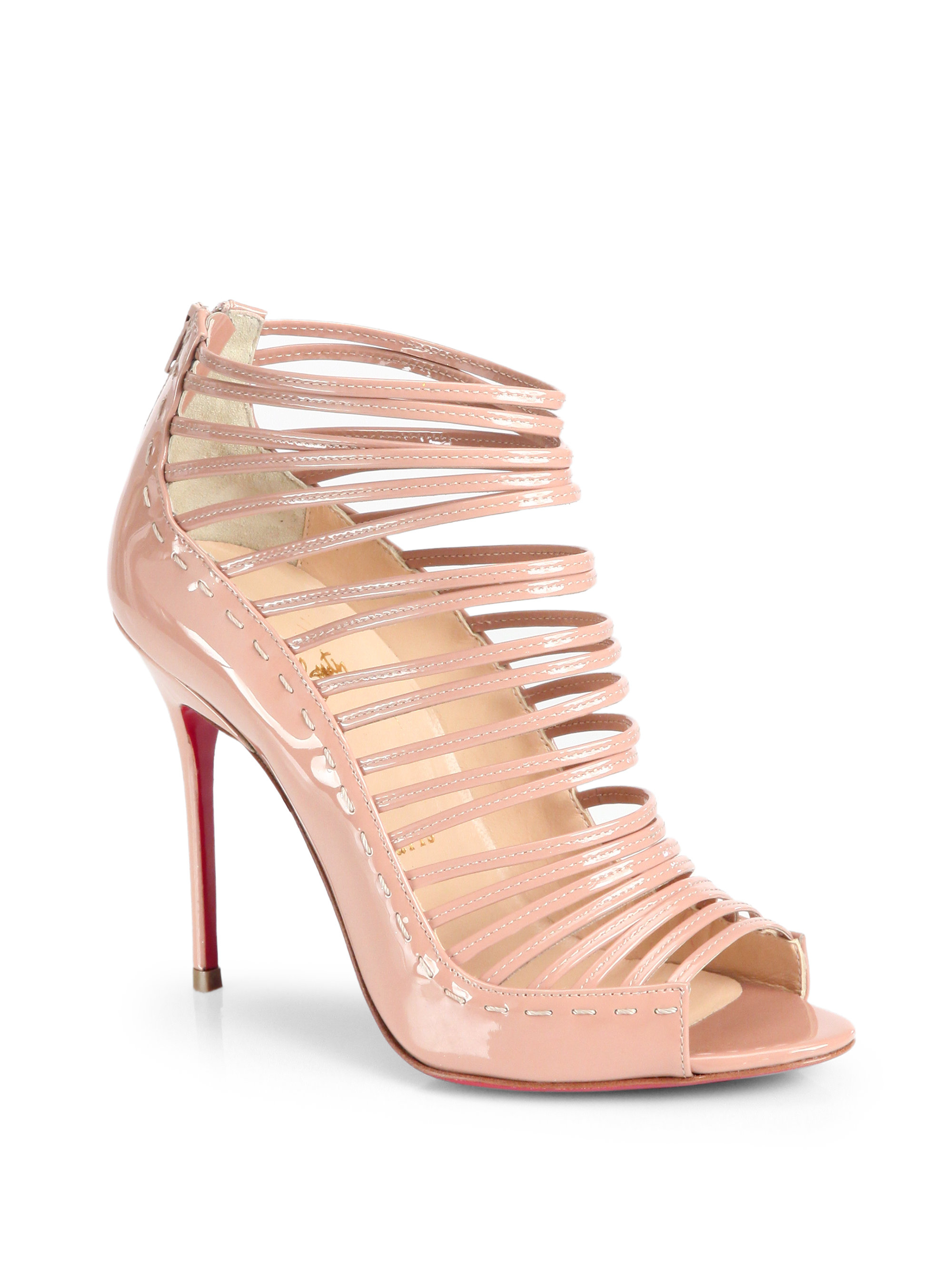 christian louboutin belle 85mm leather ankle boots