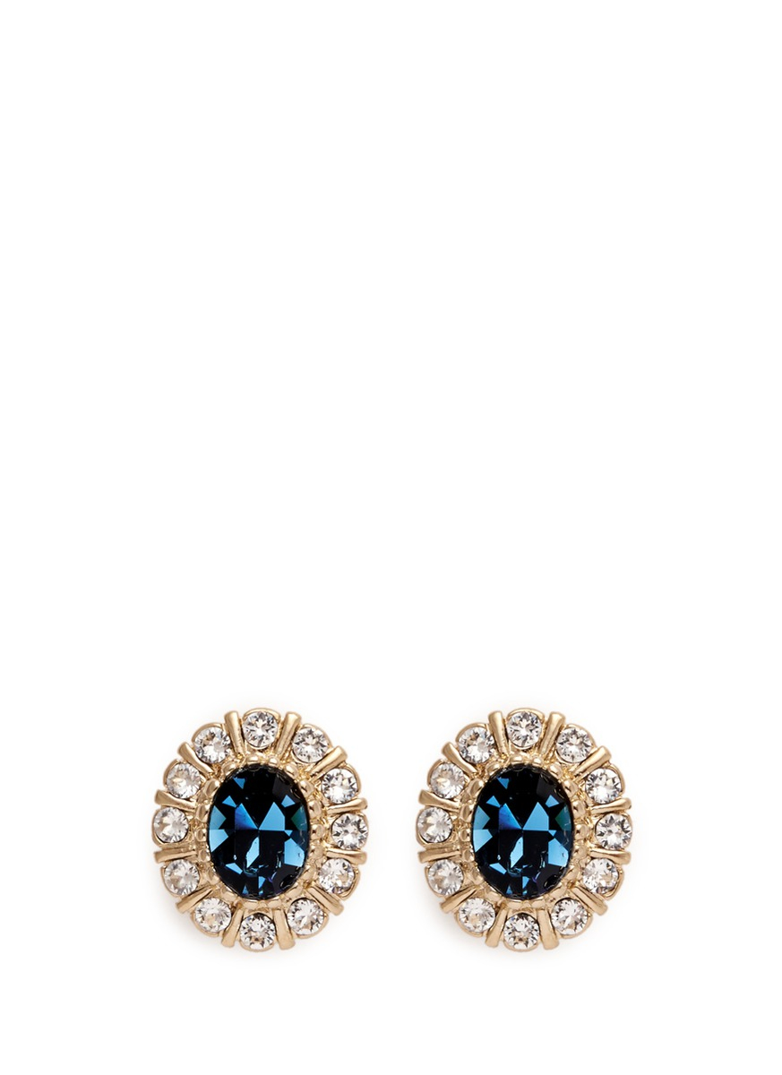 4e2f23ae4 Givenchy Swarovski Crystal Pavé Magnetic Earrings in Blue - Lyst