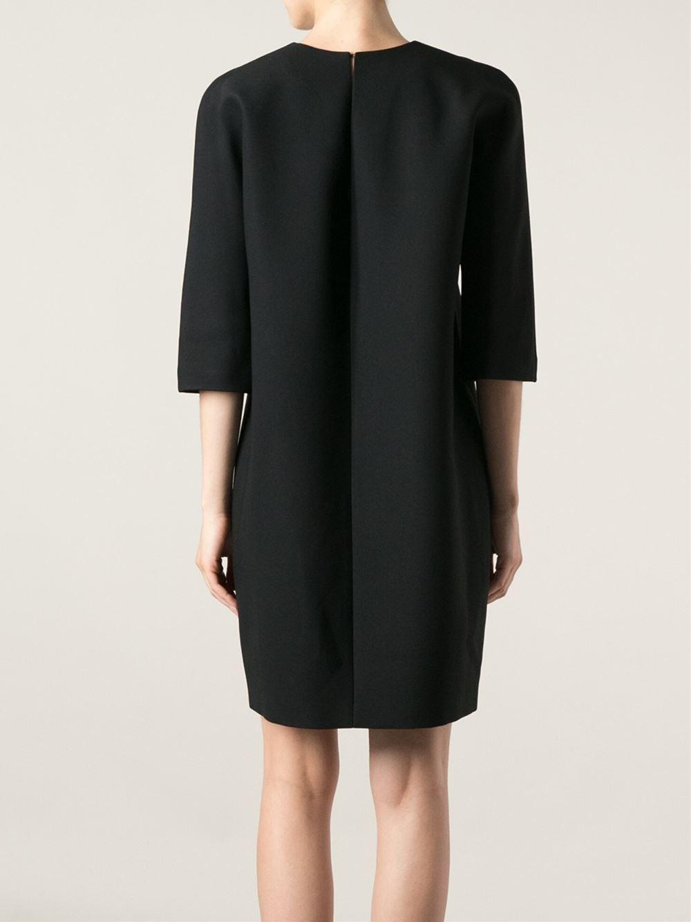 Lyst Victoria Beckham Chain Collar Dress In Black
