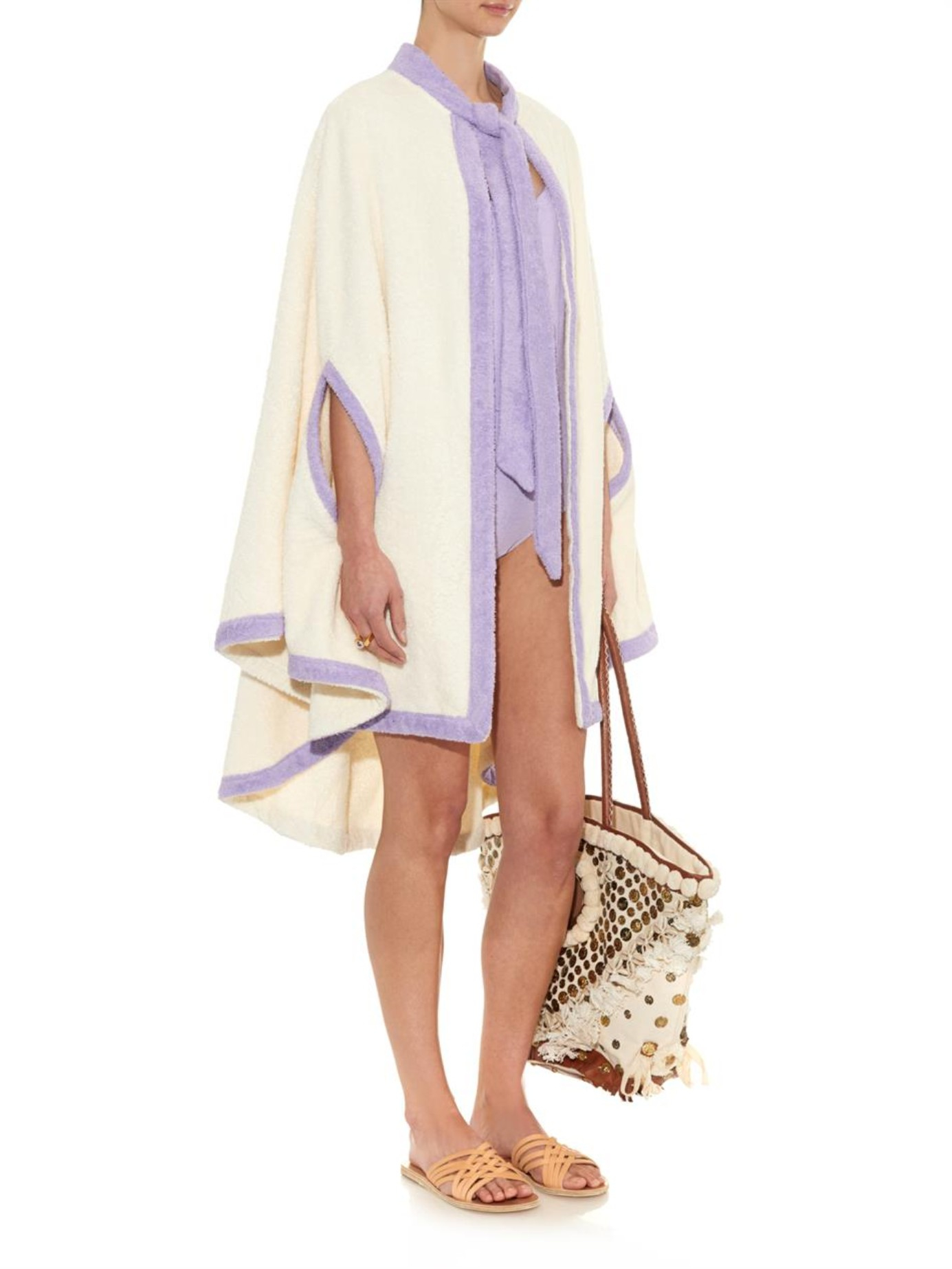 4e82af421c Lyst - Lisa Marie Fernandez Terry-Towelling Beach Cover-Up in Natural