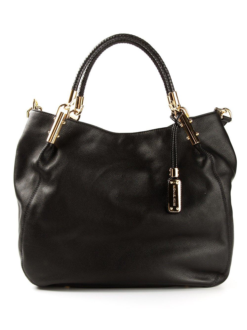 Lyst Michael Kors Large Skorpios Shoulder Bag In Black