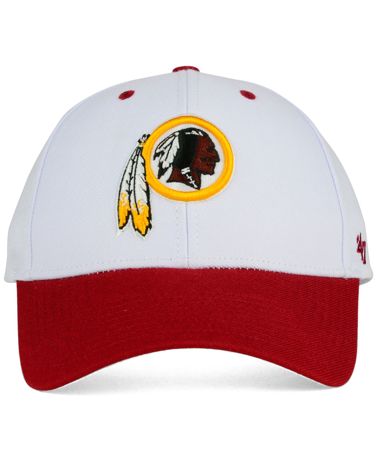 best service 411d6 9a3bf ... france lyst 47 brand washington redskins audible mvp cap in red for men  5c0ed 3ad8c