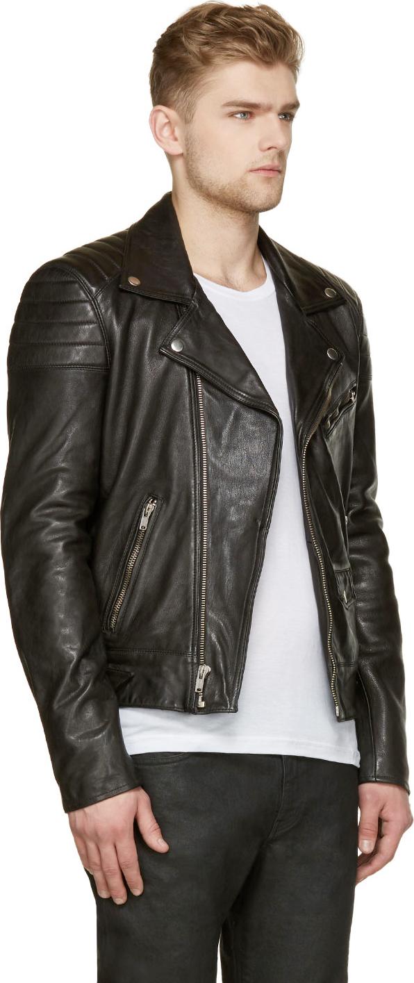 Lyst - Blk dnm Black Leather Quilted Biker Jacket in Black : leather quilted biker jacket - Adamdwight.com