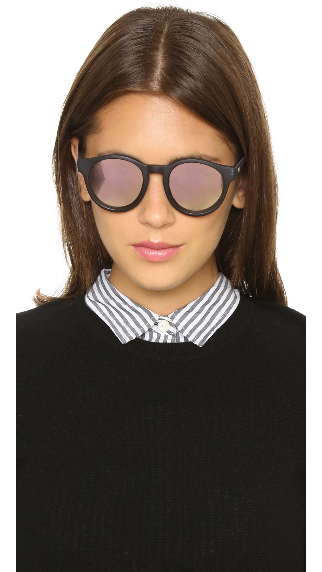 Le Specs : Gray Limited Edition Hey Macarena Sunglasses - Matte Slate ...