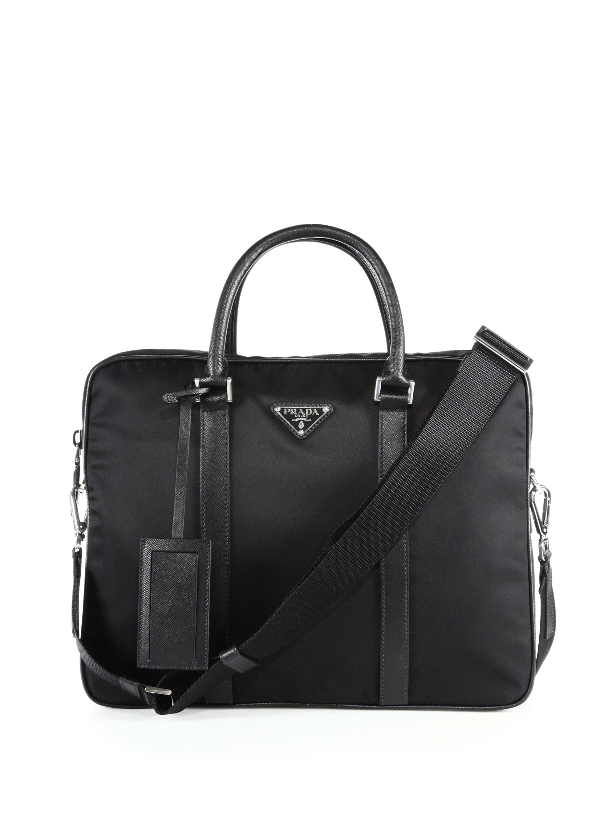 how to tell a real prada purse - Prada Borsa Da Lavoro Briefcase in Black for Men | Lyst