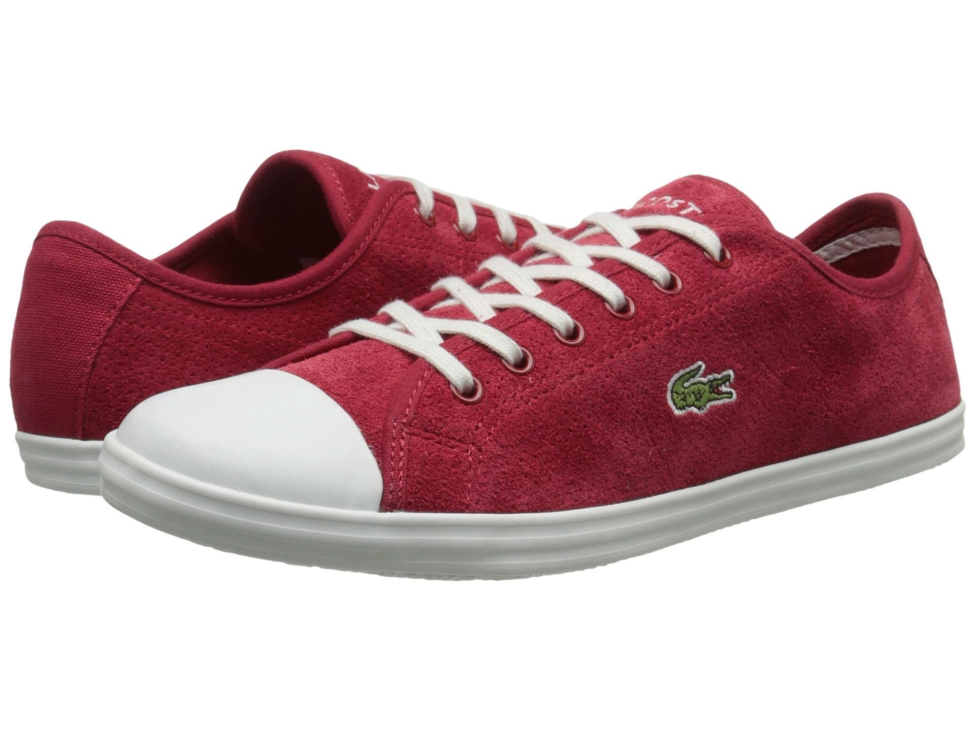 lacoste ziane sneaker in red lyst