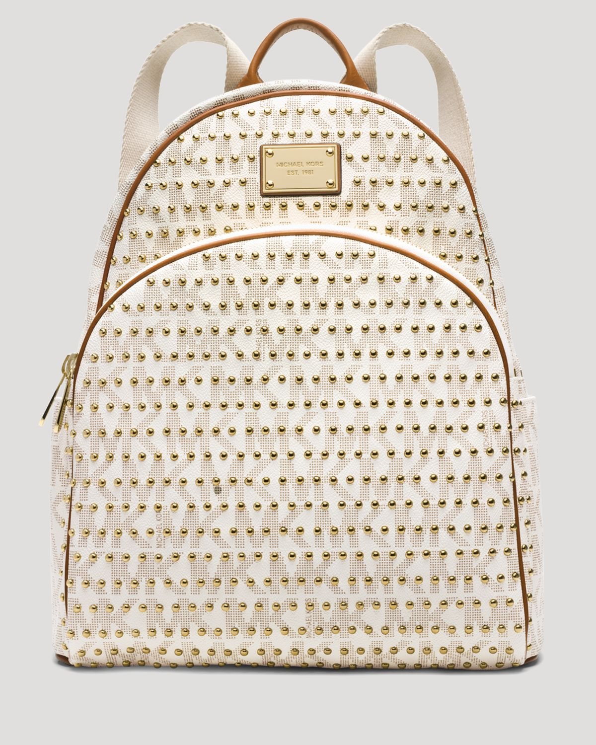 06a31b2158b55d ... coupon code for lyst michael michael kors backpack jet set item large  studded in 93368 517fd