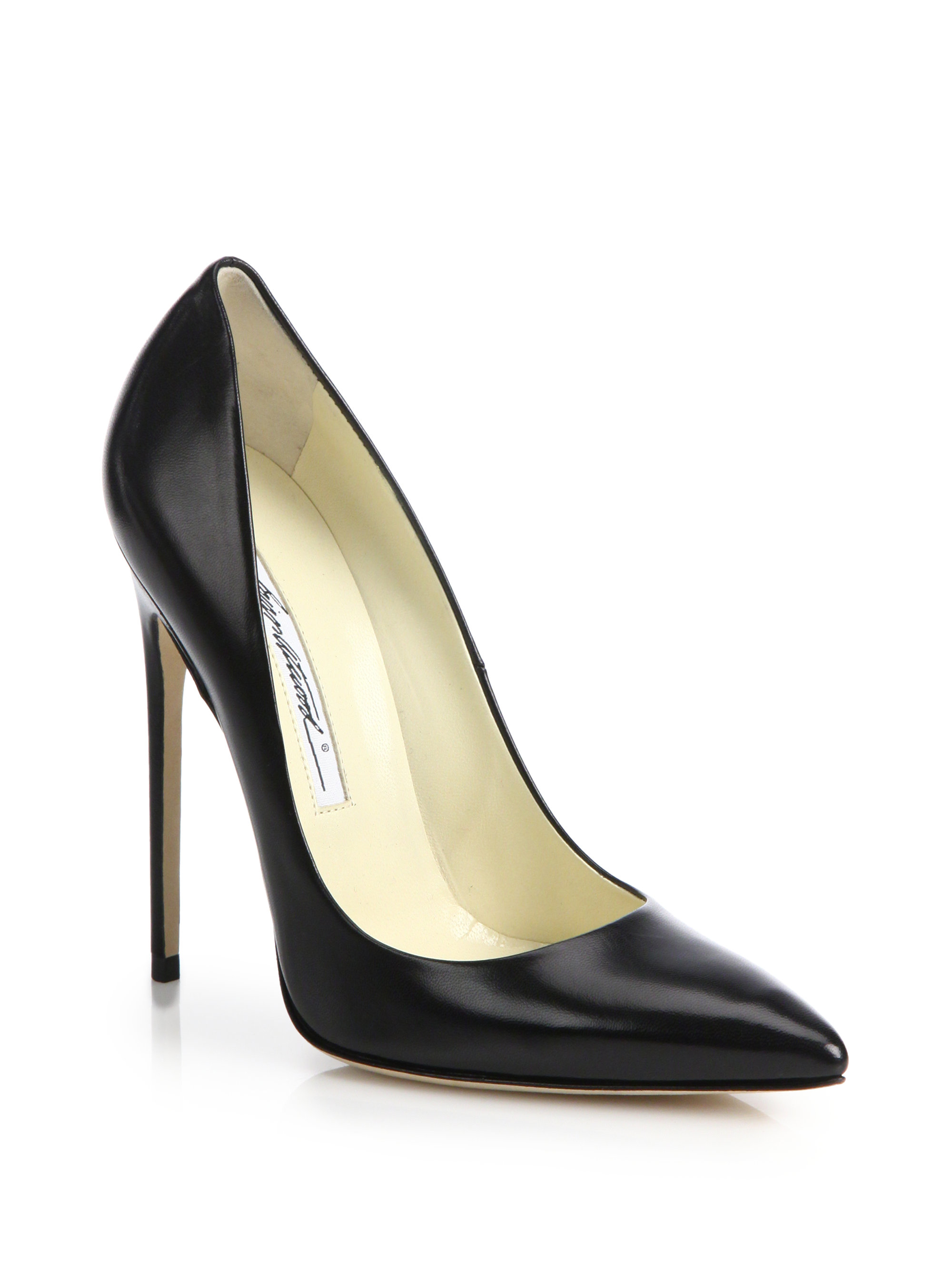 Brian atwood Leather Point-toe Pumps in Black