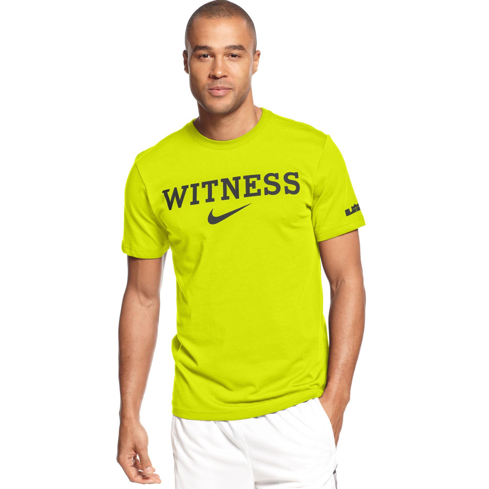 9963ee75 Lyst - Nike Lebron Witness Basketball Tshirt in Gray for Men