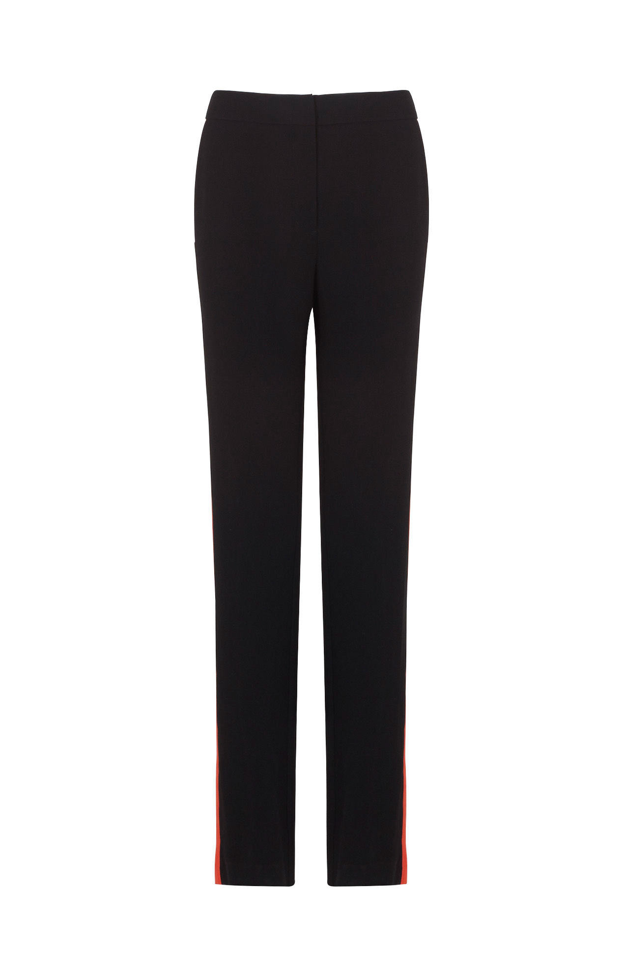 Bcbgmaxazria Leter Color Blocked Slim Leg Trouser In Black