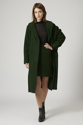 sale retailer delicate colors big selection of 2019 TOPSHOP Wool Bobble Blanket Coat By Boutique in Dark Green ...