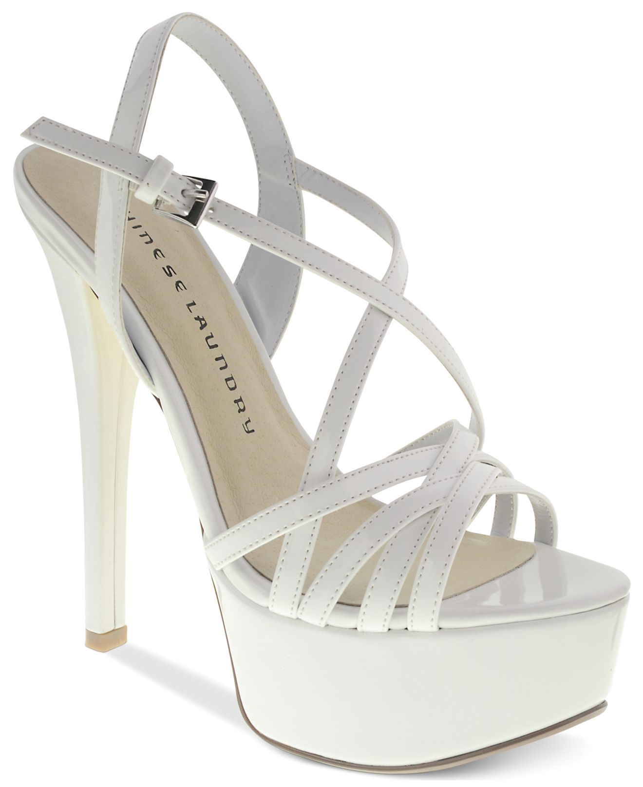 efe775163e0 Lyst - Chinese Laundry Teaser Platform Evening Sandals in White