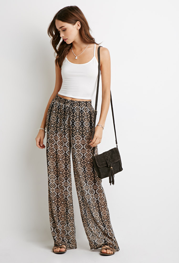 White Print Pull-On Wide-Leg Pant is rated out of 5 by Rated 1 out of 5 by Orange from Not A Good Choice I purchased the top and pants. The top was designed on a crop style.3/5(10).