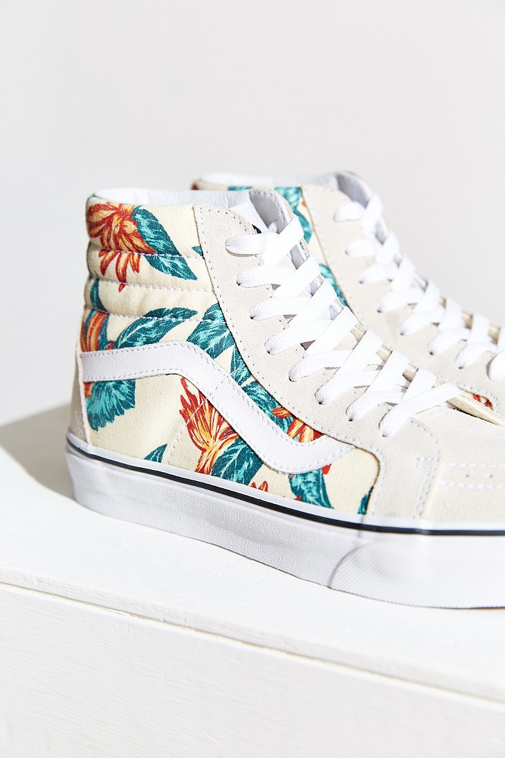 7f8d034a19e Lyst - Urban Outfitters Vans Sk8-Hi Reissue Vintage Aloha Sneaker in ...