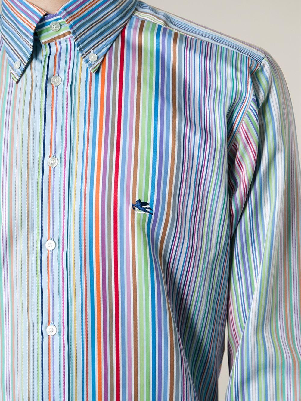 fadacc973 Etro Striped Shirt for Men - Lyst