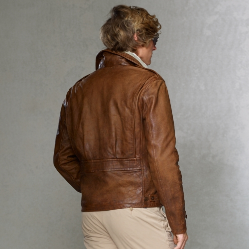 3e9bf4504 Polo Ralph Lauren Leather M41 Jacket in Brown for Men - Lyst