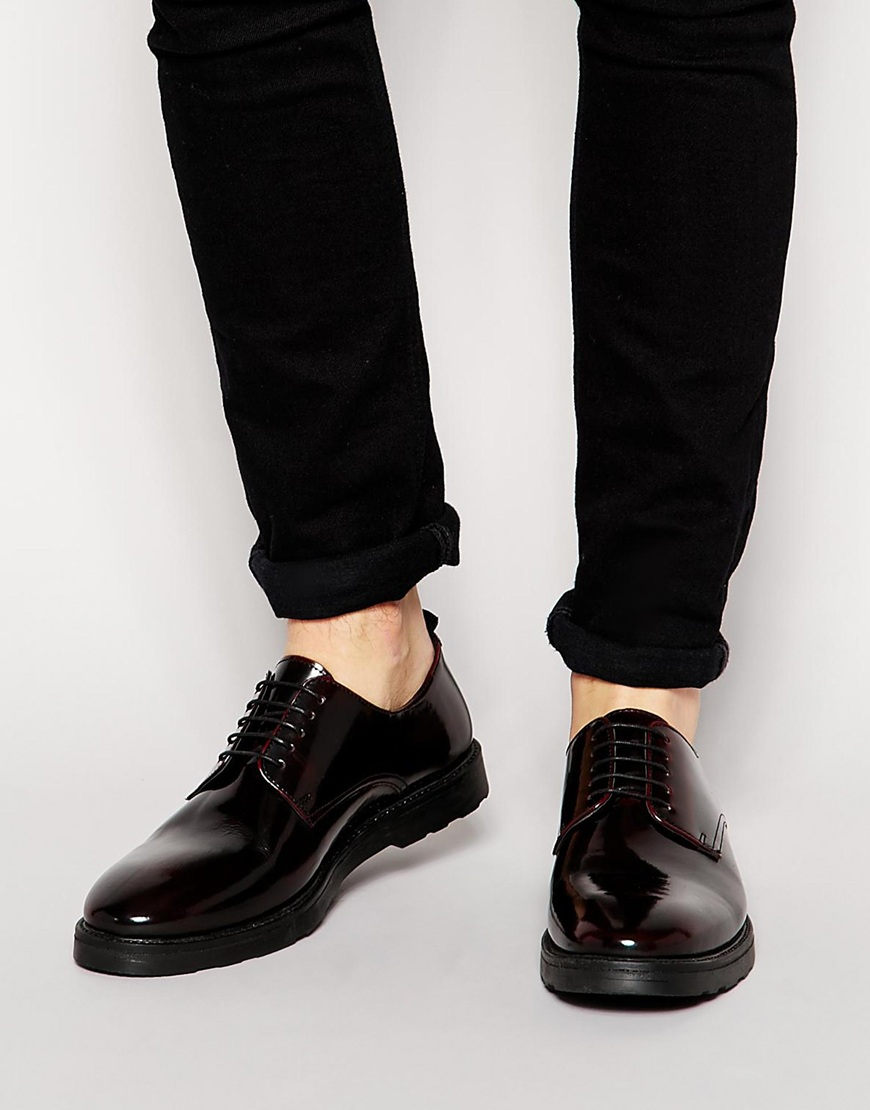 ASOS Derby Brogue Shoes In Leather zK2mS