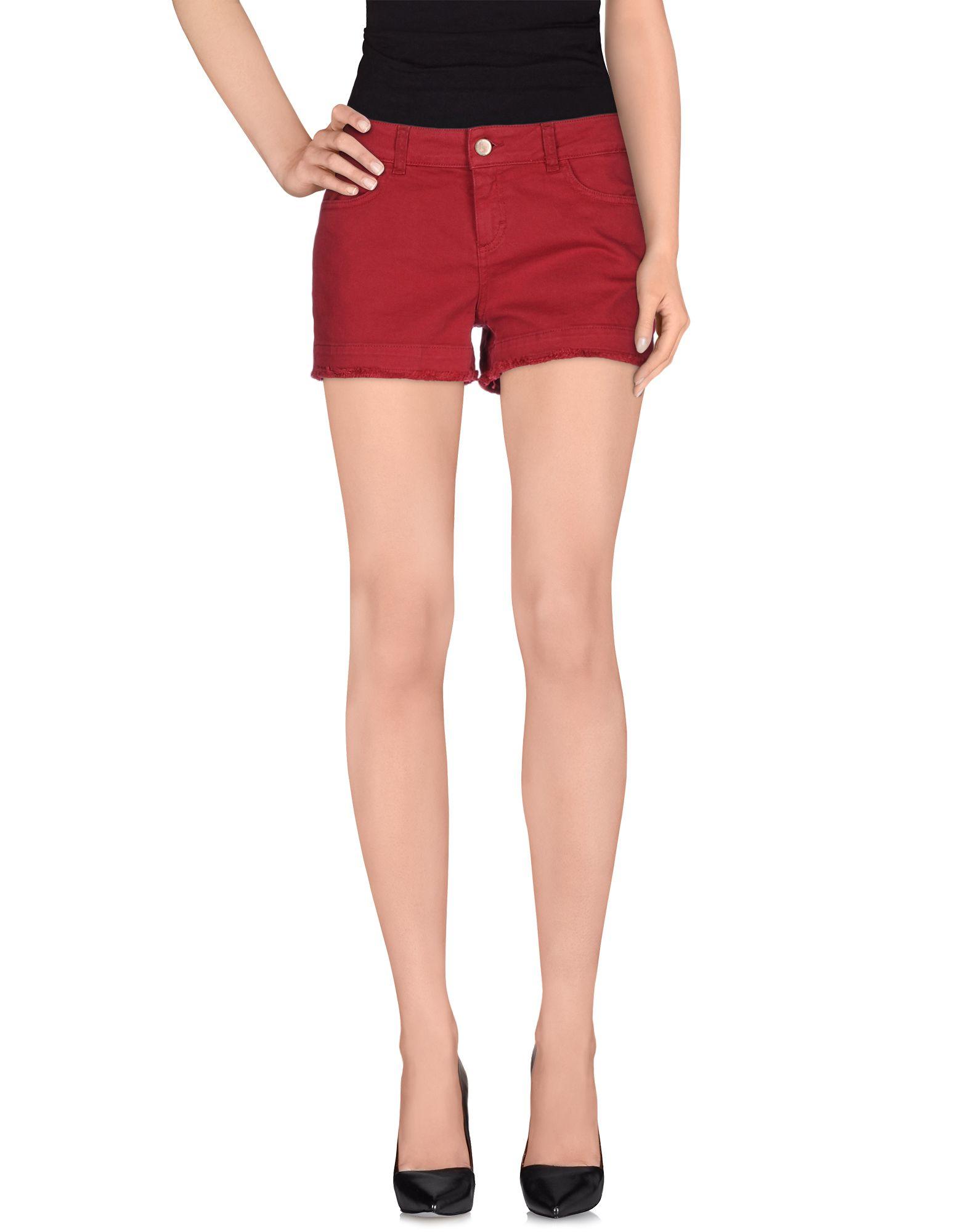 Jucca Denim Shorts in Purple (Maroon) | Lyst