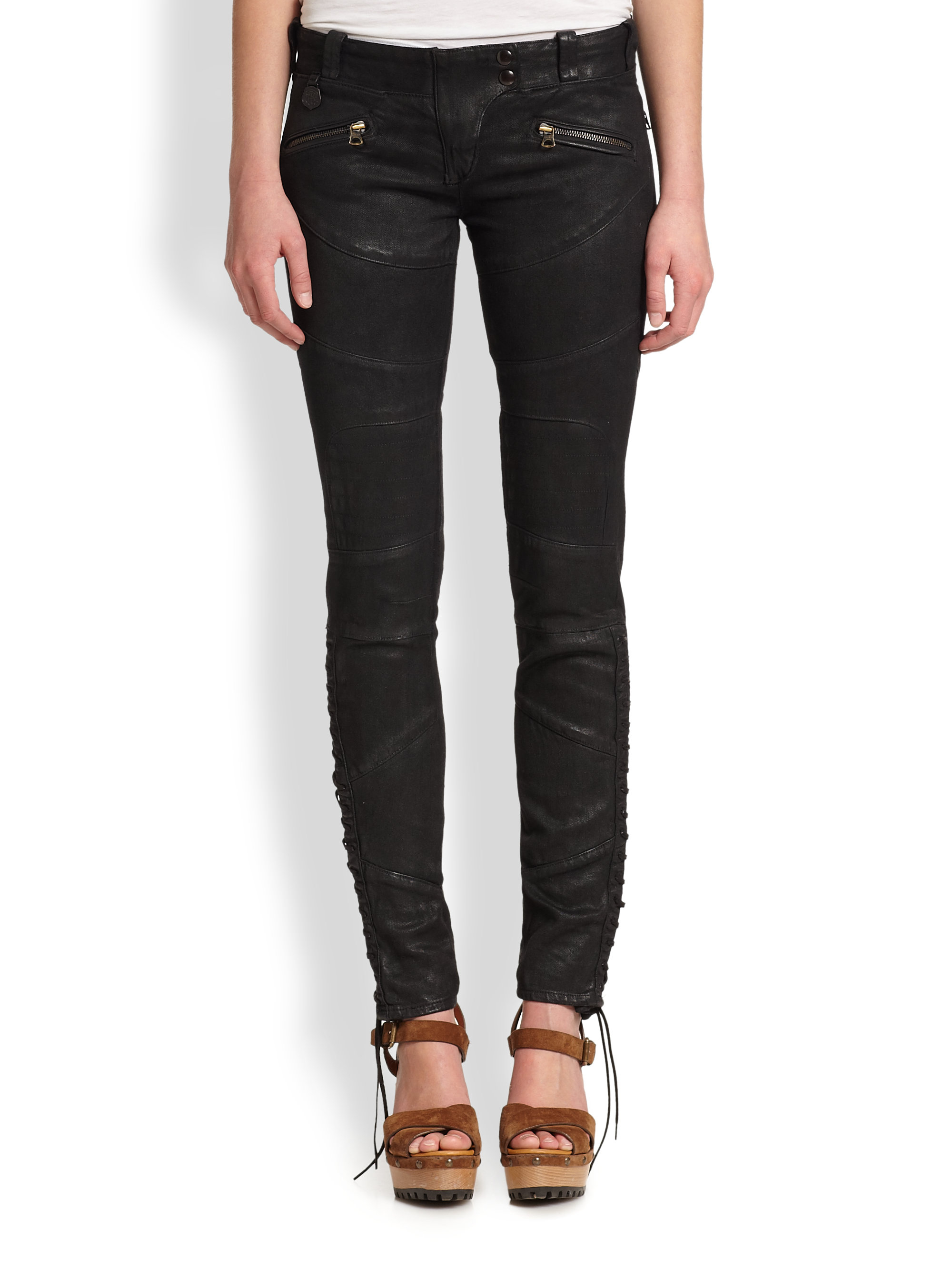 Lauren coated skinny jeans