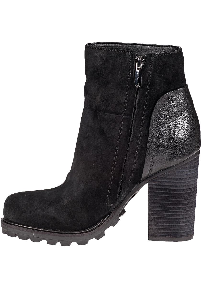 sam edelman franklin ankle boot black suede in black lyst