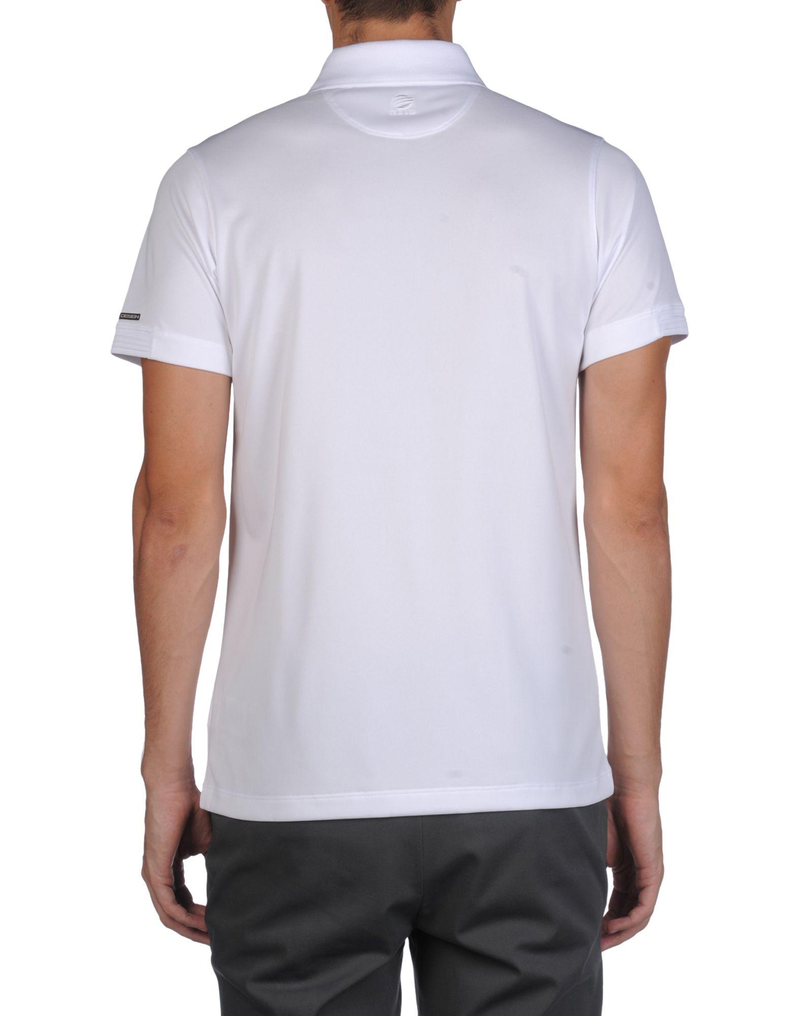 porsche design polo shirt in white for men lyst. Black Bedroom Furniture Sets. Home Design Ideas