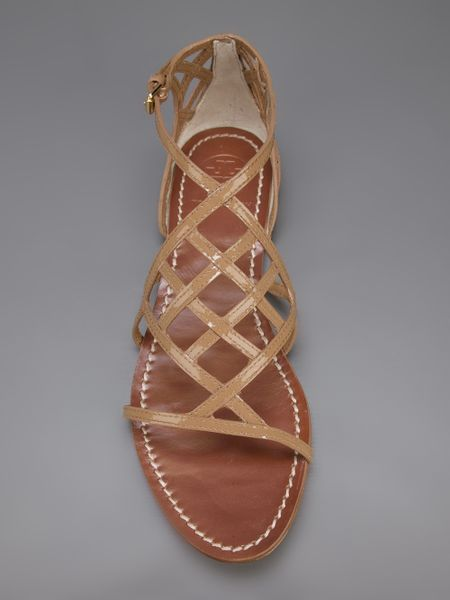 Tory Burch Amalie Sandal In Brown Nude Amp Neutrals Lyst
