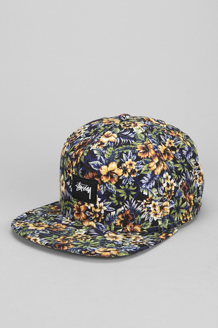 cbe20c3b088 Lyst - Stussy Island Floral Snapback Hat for Men