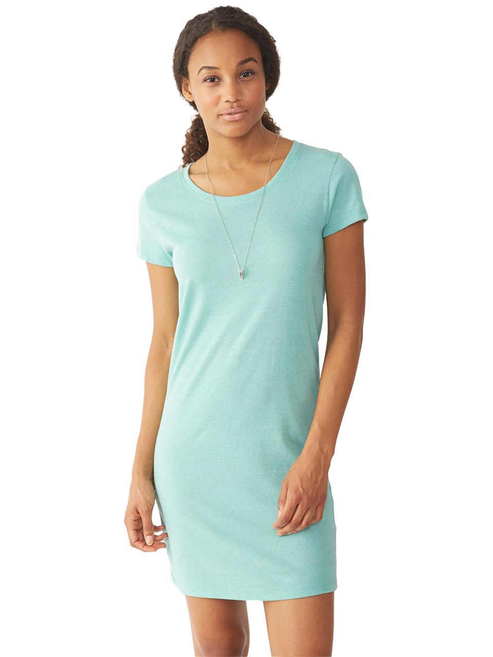 alternative apparel lakeside eco jersey dress in blue lyst