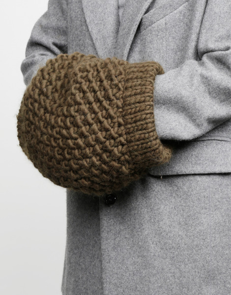 Wool and the gang lil 39 muffler in khaki khaki green lyst - Gang and the wool ...